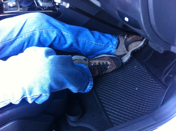 Space in footwell