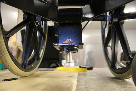 Docking station attachment on manaul wheelchair
