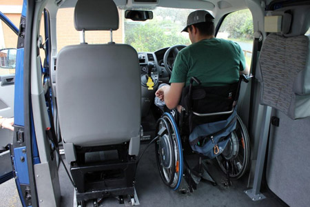 Driving from manual wheelchair