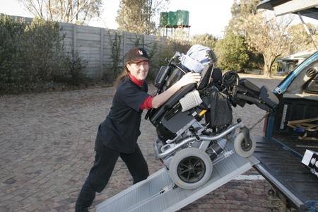 Loading wheelchair