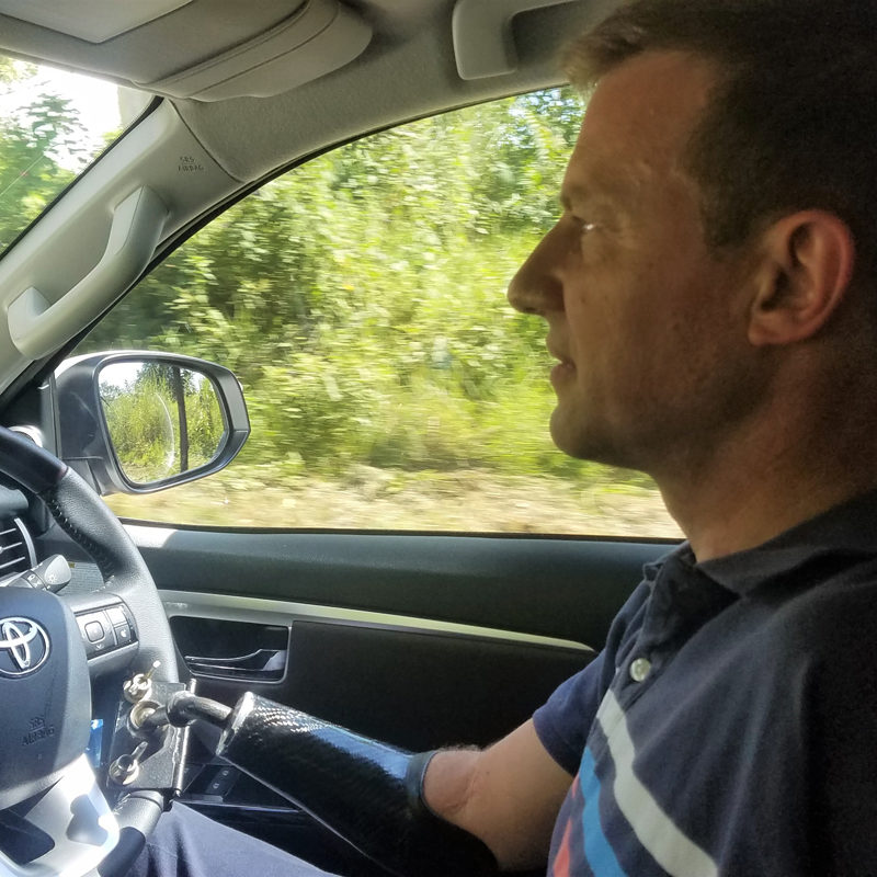 Pieter driving 1
